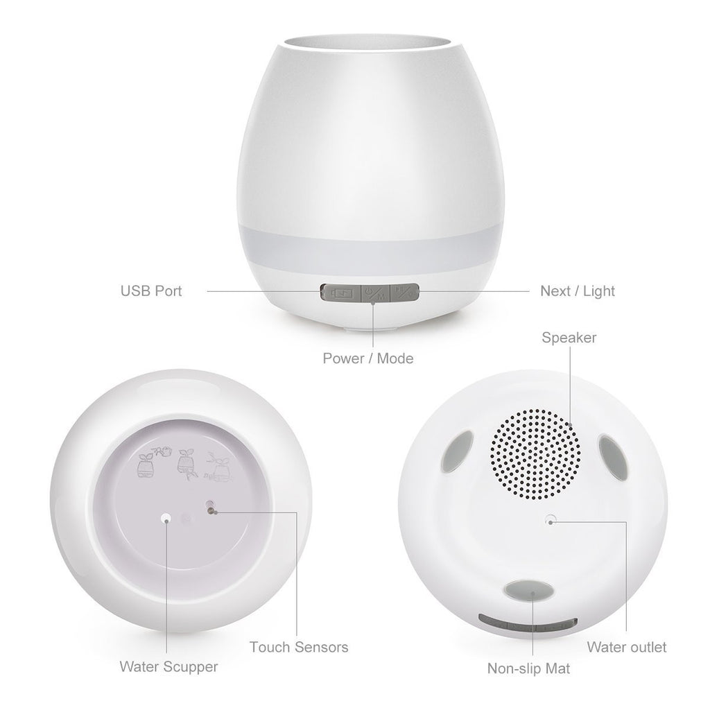 LED Rechargeable Bluetooth Music Night Light Speaker
