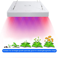 50W Full Spectrum LED Hanging Grow Plant Lights Panel Garden Greenhouse Hydroponic