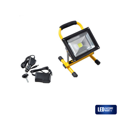 20W Wireless Rechargeable LED Outdoor Flood Light - Yellow - LED Factory Mart - 3