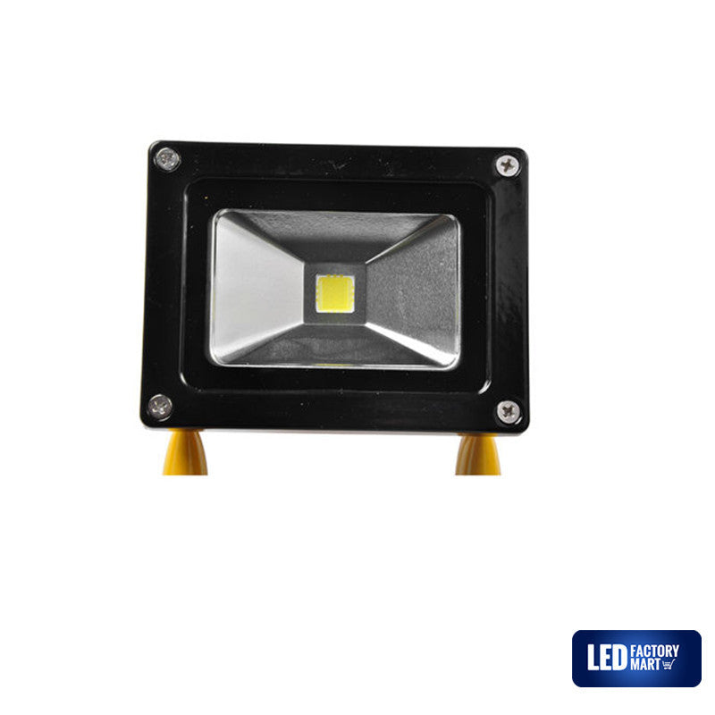 10W Wireless Rechargeable LED Outdoor Flood Light - Yellow - LED Factory Mart - 4
