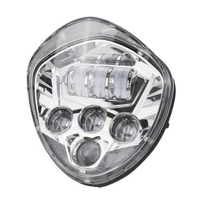 Black/Chrome Motorcycle LED Headlight Kit for Victory Cross Country