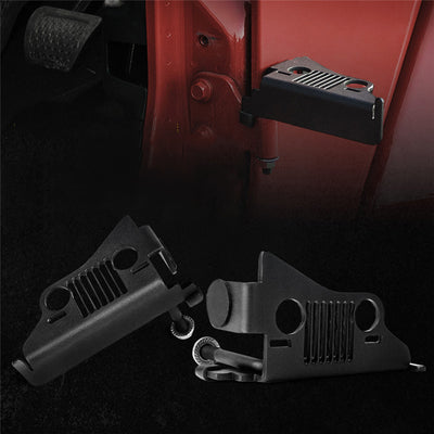 Front Foot Pegs with Jeep Face for 2018+ Jeep Wrangler JL