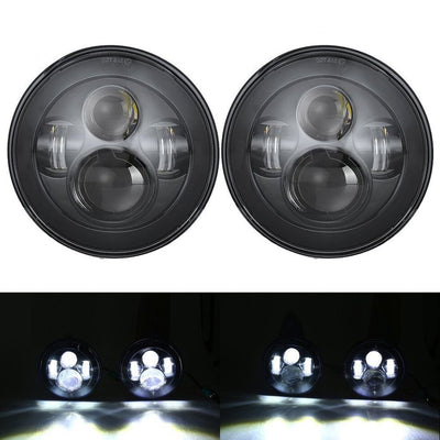 "60W 7"" Round CREE LED Projector Headlights & 4'' 30W Cree Power Fog Lamps"