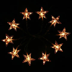 Warm White LED Christmas Decorations Stars Lights String Fairy Curtain Wedding