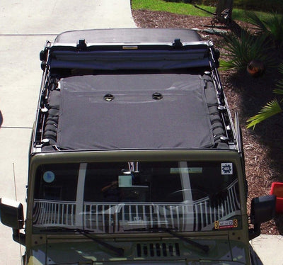 Cloak Extended Mesh Shade Top For Jeep Wrangler - LED Factory Mart - 9