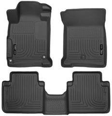 Front & 2nd Seat Floor Liners Fits 13-17 Accord