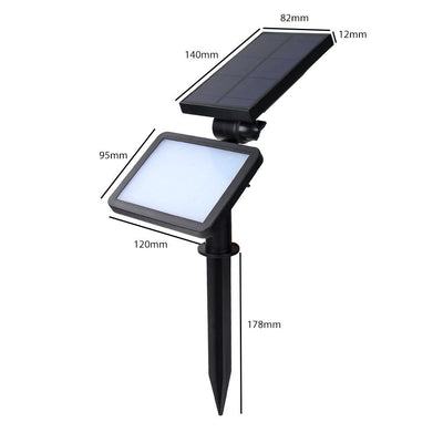 2pcs Solar Powered Wall Mount LED Light Outdoor Garden Path Landscape Fence Yard Lamp - LED Factory Mart - 8