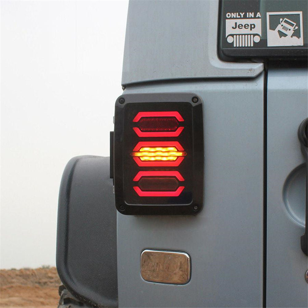 Diamond LED Tail Lights For Jeep Wrangler JK (5)