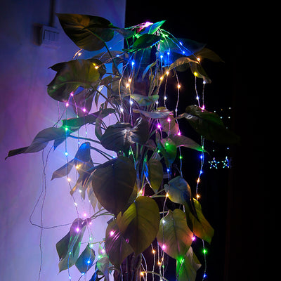 DC12V 10M 33ft 100LED LED String Fairy Light Copper Wire MultiColor RGB Decor Stripes - LED Factory Mart - 3