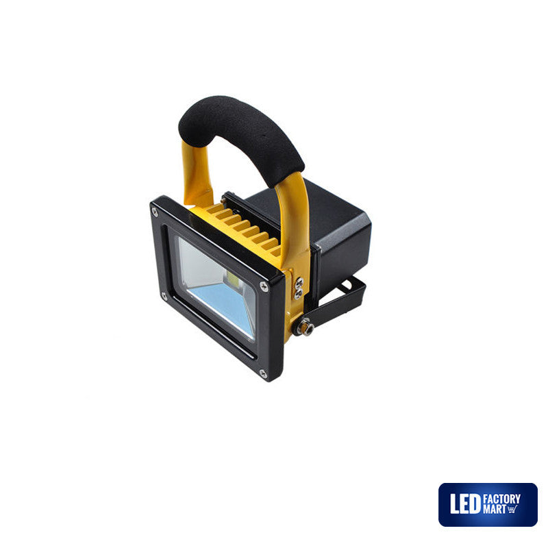 10W Wireless Rechargeable LED Outdoor Flood Light - Yellow - LED Factory Mart - 5