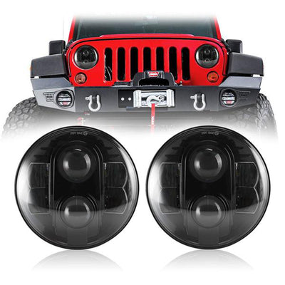 7 inch 80W Cree LED Headlights For 1997-2019 Jeep Wrangler JK TJ LJ JL
