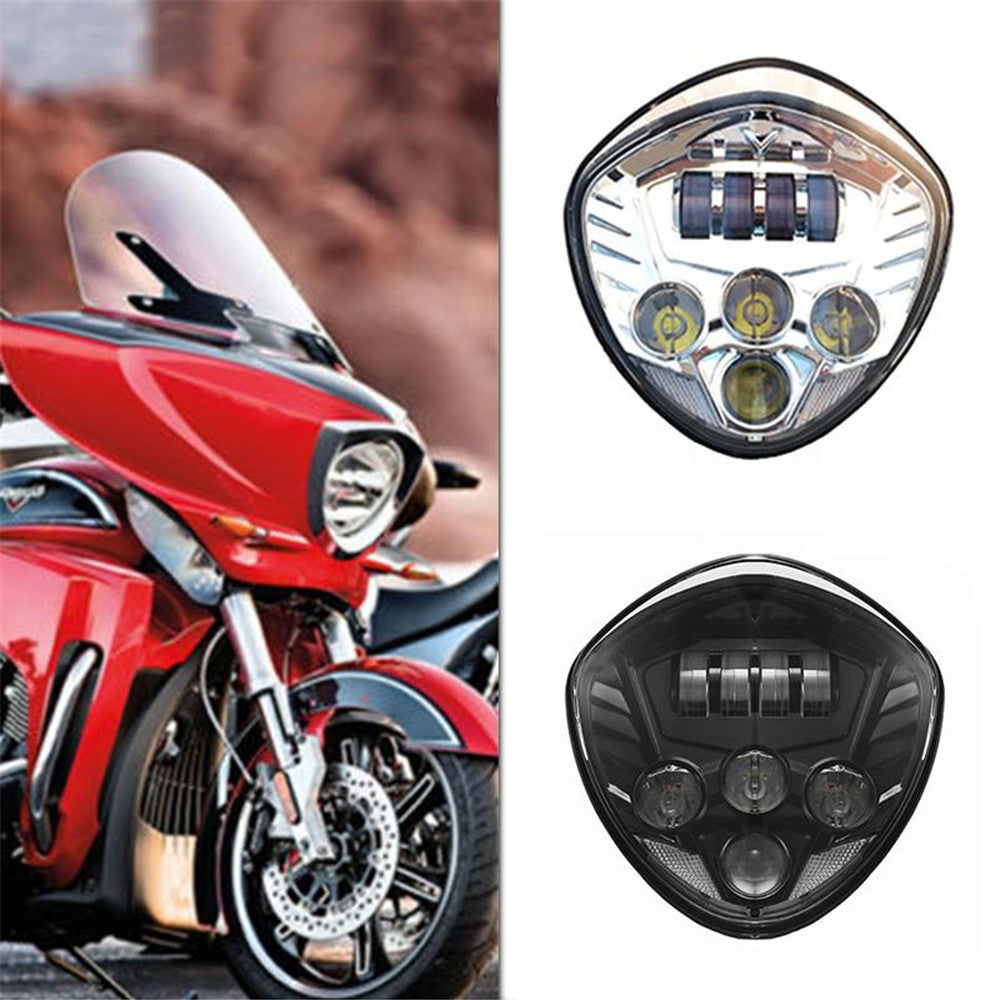 Chrome Black Victory Led Headlight Kit Cross Country