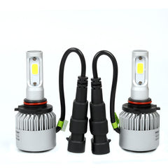COB LED Headlight Bulb & T10 194 45SMD 4014 LED Back Light Bulbs Combo