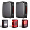 Smoked LED Tail Lights & Metal Tail Lights Cover