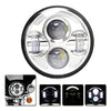 5.75-inch Black Projector LED Headlight + 4.5-inch Passing Lamps