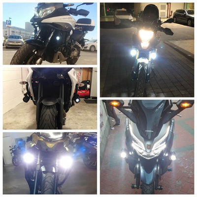 Brighter 40W LED Auxiliary Lamp Kits with DRL and Amber Turn Signals For Motorcycle