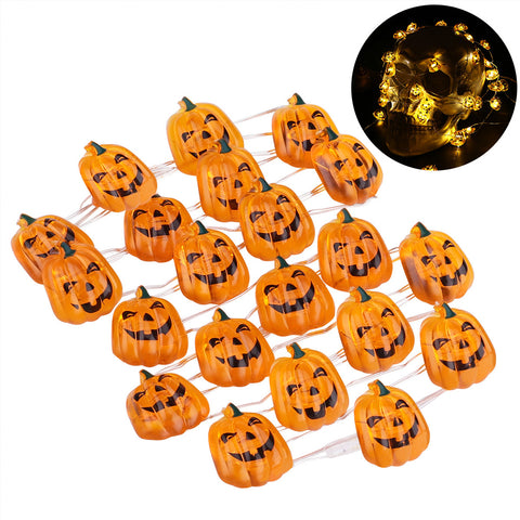 40 LEDs Halloween 3D Pumpkin Fairy String Lights