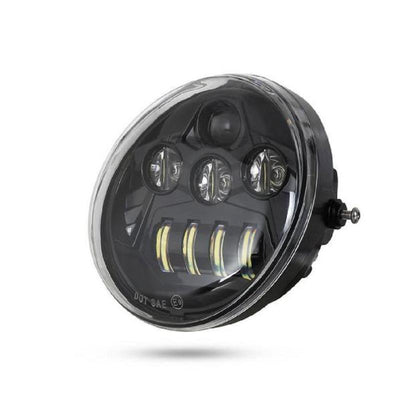 Black LED Headlight For VRSCA V Rod 02-16