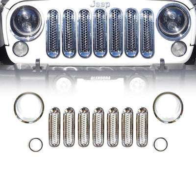 Chrome Front Grille Insert And Bezel Cover