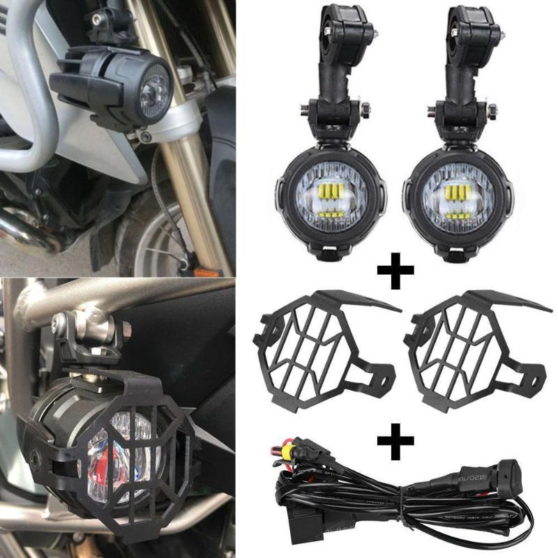 ADV LED Fog Lights 40A Wiring Harness Switch On//Off For BMW R1200GS F800GS