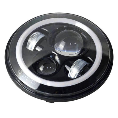 Harley LED Headlight With White Halo and Turn Signal