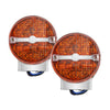 Smoke/Yellow Flat Lens LED Turn Signal Lights For Softail Classic FLSTC