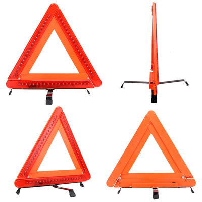 Triple Warning Triangle Roadside Emergency Light Foldable Emergency Triangles