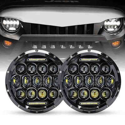 Jeep Honeycomb Black LED Headlights
