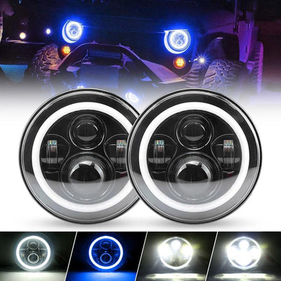 Jeep Blue Halo Headlights
