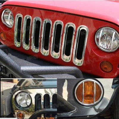 Front Fender Turn Signal Light Cover For Jeep JK