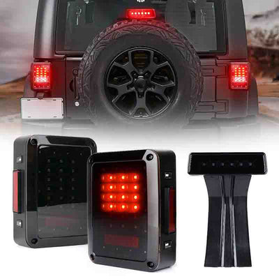 Jeep JK smoked Tail Lights and Brake Light