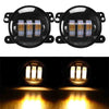 Jeep Wrangler JK Fog Lights Yellow DRL