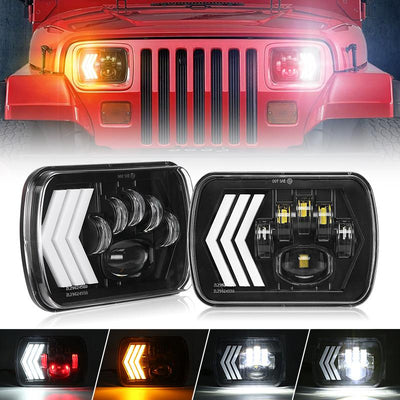 Jeep YJ 5X7 LED Headlights