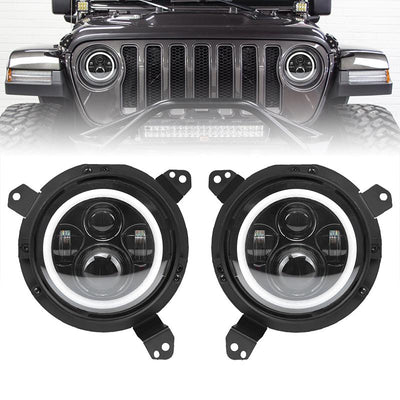 Jeep jl halo headlights and fog lights