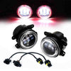 Jeep wrangler jk red halo fog lights