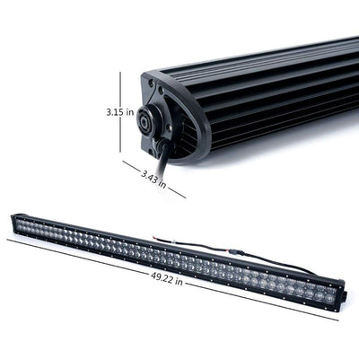 50 Inch Waterproof LED Work Light Bar Bracket Kit