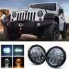 "7"" G6 CREE LED Headlights With DRL For 1997-2018 Jeep Wrangler"