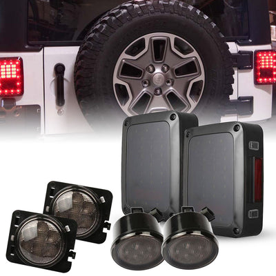 Smoke LED Tail Lights & Turning Signals with Fender Flares Lights