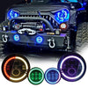 rgb jeep headlights,jeep wrangler fog lights