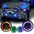 7inch RGB LED Headlights + 4inch LED Fog Light RGB Halos for Jeep Wrangler