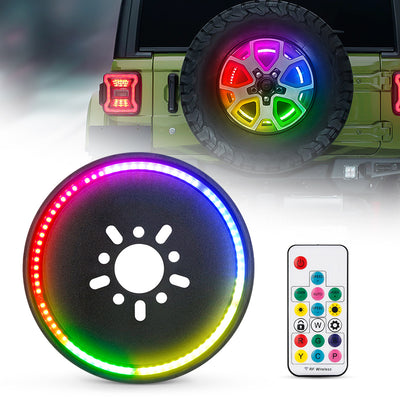 RGB Spare Tire brake light For Jeep 2007+ Jeep Wrangler JK and JL