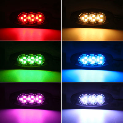 8 Pcs RGB Universal LED Rock Lights with Bluetooth APP and Remote Control