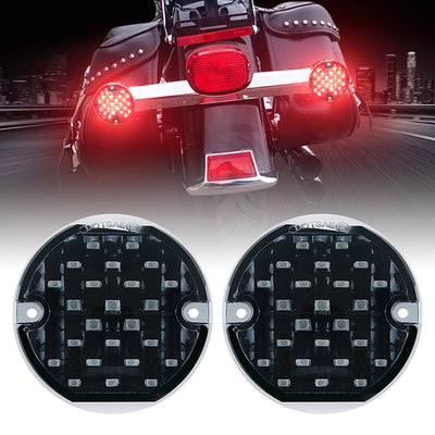 Red Emark DOT 1156 10W 3-1/4'' LED Turn Signal Indicators For Motorcycle