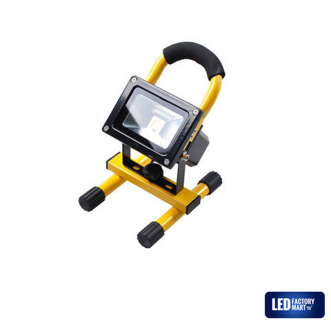 10W Wireless Rechargeable LED Outdoor Flood Light - Yellow - LED Factory Mart - 2