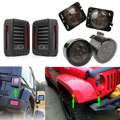 LED Tail Brake Light with Turn Signal Lights & Fender Side Light (US Version)