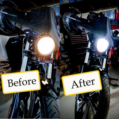 Motorcycle LED Headlight H4 Hi Lo 20W 2000LM COB HS1 9003 hb2