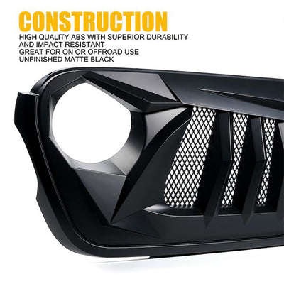 Black Widow Series Replacement Grille for 2018+ Jeep Wrangler JL JT