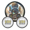 5.75 inch Projector LED Headlight & 4.5 inch Passing Lights - LED Factory Mart