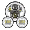 "5.75"" RGB LED Projector Headlight + 4.5"" Passing Fog Light"