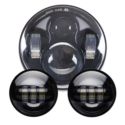 "Bright 5.75"" Daymaker LED Headlight with 4.5 Inch Fog Light"